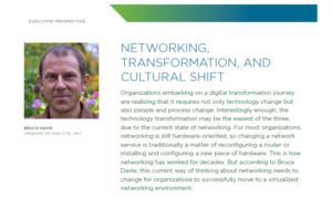Networking, Transformation, and Cultural Shift