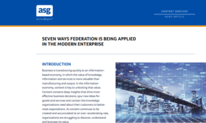 Seven Ways Federation is Being Applied in the Modern Enterprise