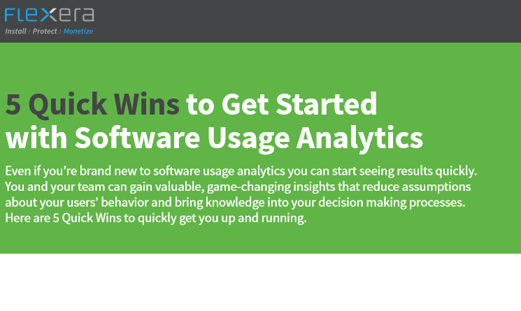 5 Quick Wins to Get Started with Software Usage Analytics