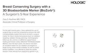 BREAST-CONSERVING SURGERY WITH A 3D BIOABSORBABLE MARKER (BIOZORB® MARKER): A SURGEON'S 5-YEAR EXPERIENCE