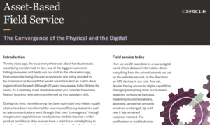 IT'S TIME TO RE-THINK FIELD SERVICE