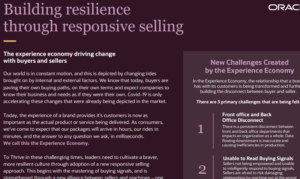 THE EXPERIENCE ECONOMY DRIVING CHANGE WITH BUYERS AND SELLERS