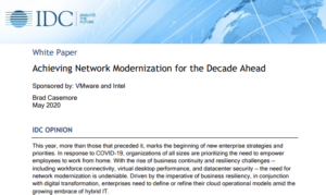 ACHIEVING NETWORK MODERNIZATION FOR THE DECADE AHEAD (IDC)