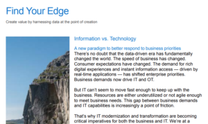 FIND YOUR EDGE: CREATE VALUE BY HARNESSING DATA AT THE POINT OF CREATION