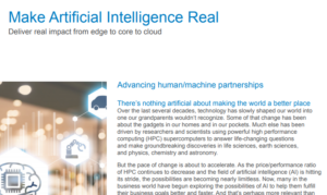 MAKE ARTIFICIAL INTELLIGENCE REAL DELIVER REAL IMPACT FROM EDGE TO CORE TO CLOUD